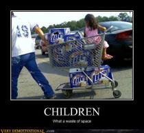 kid in beer cart